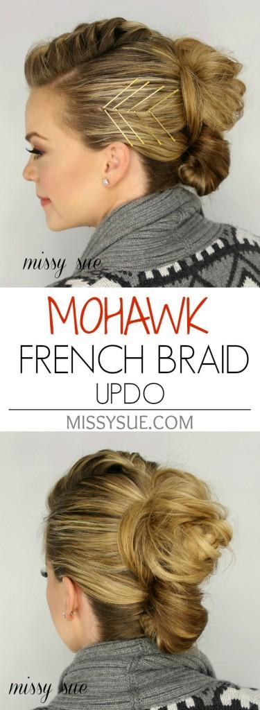 Mohawk French Briad Updo